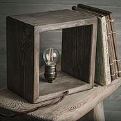 """Для дома и интерьера ручной работы. Ярмарка Мастеров - ручная работа Лампа настольная деревянная. """"Ретро"""". Handmade."""