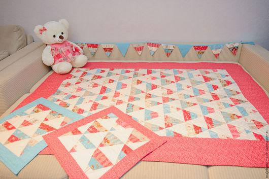 Пледы и одеяла ручной работы. Ярмарка Мастеров - ручная работа. Купить Комплект для детской. Handmade. Комбинированный, подарок, для девочки