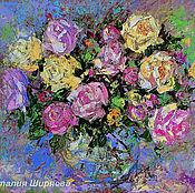 """Картины и панно ручной работы. Ярмарка Мастеров - ручная работа """"Чудо Для Тебя"""" - картина маслом (розы в стиле прованс). Handmade."""