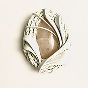 Украшения handmade. Livemaster - original item brooch SNOW white. Handmade.