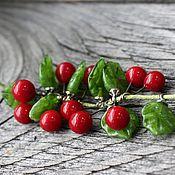 Бусины ручной работы. Ярмарка Мастеров - ручная работа Лэмпворк бусины шарики красные по 5 шт. Handmade.
