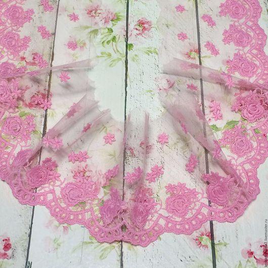 """Шитье ручной работы. Ярмарка Мастеров - ручная работа. Купить Кружево """"Розовая нежность"""" 10 см. Handmade. Белый, кружево"""