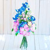Свадебный салон handmade. Livemaster - original item A bouquet of flowers. Amaryllis pink.. Handmade.
