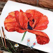 Картины и панно ручной работы. Ярмарка Мастеров - ручная работа Мак. Handmade.
