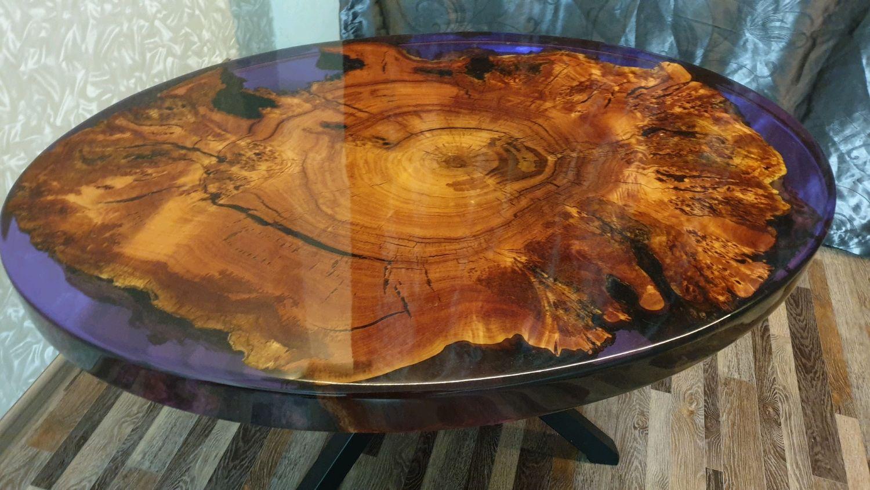 Журнальный столик из эпоксидной смолы, Столы, Березовский,  Фото №1
