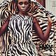 Платья ручной работы. Тигровое платье в пол. Dudu-dress. Ярмарка Мастеров. Платье, под тигра, платье с разрезом, трикотаж