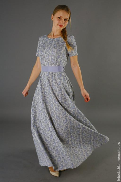 Платья ручной работы. Ярмарка Мастеров - ручная работа. Купить Длинное платье Пастораль. Handmade. Разноцветный, красивое платье