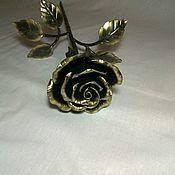 Stained glass handmade. Livemaster - original item forged rose. Handmade.