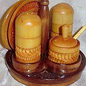 Русский стиль handmade. Livemaster - original item Set for spices of wood carving. Handmade.