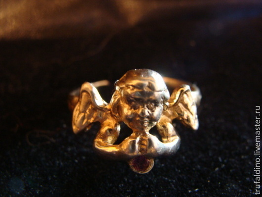 """Кольца ручной работы. Ярмарка Мастеров - ручная работа. Купить Серебряное кольцо """" Ангел"""". Handmade. Золотой, Бриллиант, ангел"""