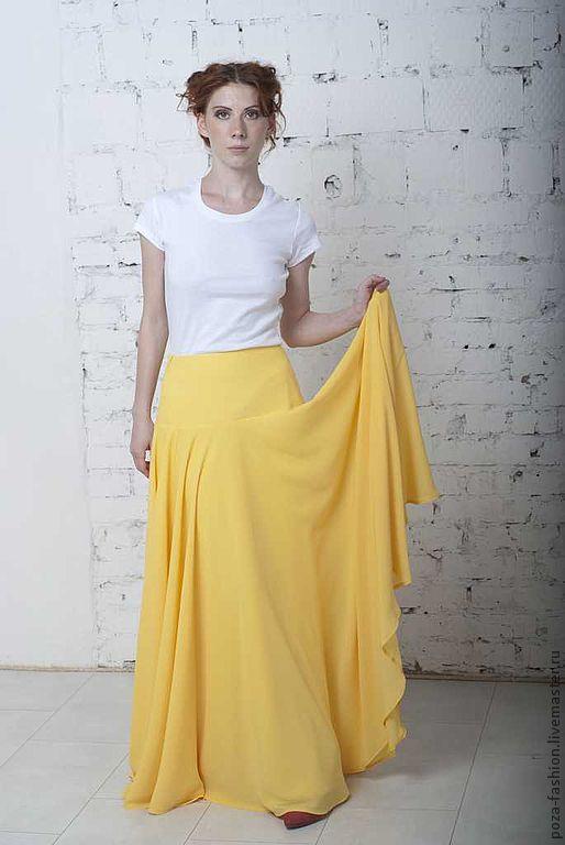 Креп юбка солнце
