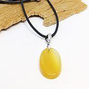 Украшения handmade. Livemaster - original item Pendant with yellow agate. Handmade.