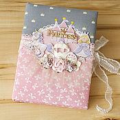 Канцелярские товары ручной работы. Ярмарка Мастеров - ручная работа Мамин дневник для маленькой принцессы. Handmade.