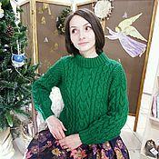Одежда ручной работы. Ярмарка Мастеров - ручная работа Косы и араны в объятьях зеленого. Handmade.