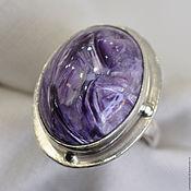 Украшения handmade. Livemaster - original item Ring with charoite Mulberry - 3. Handmade.
