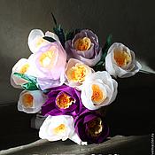 Для дома и интерьера ручной работы. Ярмарка Мастеров - ручная работа Корзина с крокусами. Handmade.