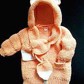 Работы для детей, ручной работы. Ярмарка Мастеров - ручная работа Вязаная курточка для девочки.. Handmade.