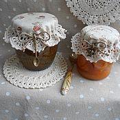 Для дома и интерьера ручной работы. Ярмарка Мастеров - ручная работа Салфетки-крышечки для любимого варенья :). Handmade.