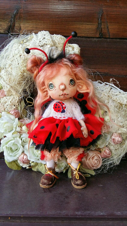 Interior textile doll. Elf bug, Dolls, Pskov,  Фото №1