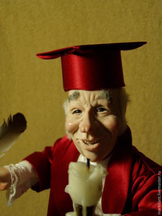 Коллекционные куклы ручной работы. Ярмарка Мастеров - ручная работа. Купить Нотариус. Handmade. Бордовый, Ливинг долл, оргстекло