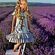 Платья ручной работы. Ярмарка Мастеров - ручная работа. Купить Платье из хлопка Винтаж. Handmade. Голубой, платье для девочки