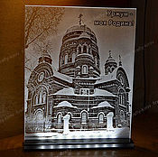 Картины и панно ручной работы. Ярмарка Мастеров - ручная работа Родной город Сувенир с подсветкой. Handmade.