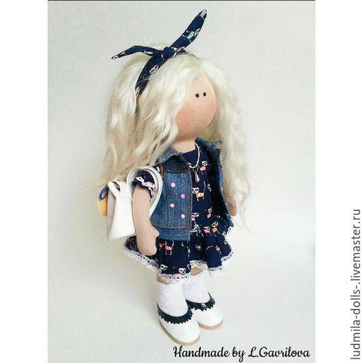 Коллекционные куклы ручной работы. Ярмарка Мастеров - ручная работа. Купить Интерьерная кукла ручной работы. Handmade. Комбинированный, рюкзачок