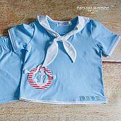 Работы для детей, ручной работы. Ярмарка Мастеров - ручная работа Морской костюм для мальчика. Handmade.