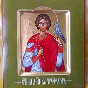 Картины и панно ручной работы. Ярмарка Мастеров - ручная работа ТРИФОН ,святой мученик ,рукописная икона. Handmade.