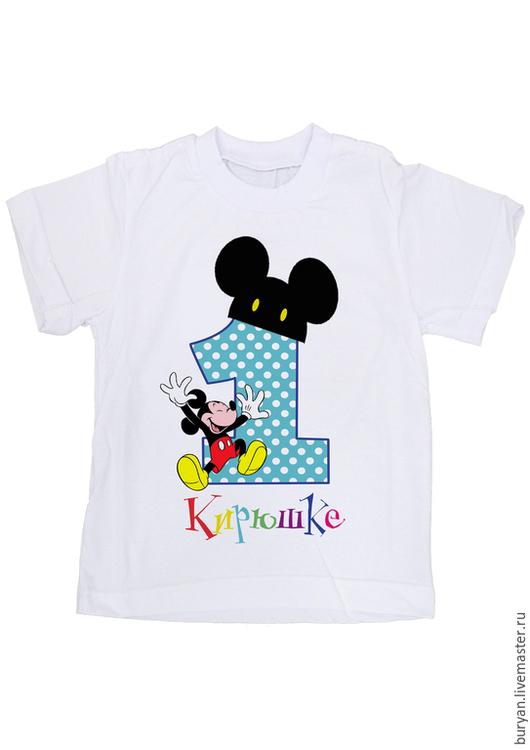 """Одежда унисекс ручной работы. Ярмарка Мастеров - ручная работа. Купить Детская футболка """"Мне 1 год"""". Handmade. Белый"""