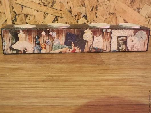 Подсвечники ручной работы. Ярмарка Мастеров - ручная работа. Купить подсвечник деревянный. Handmade. Черный, подсвечник из дерева, подсвечник деревянный