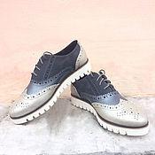 Обувь ручной работы. Ярмарка Мастеров - ручная работа Женские броги Faktura. Handmade.