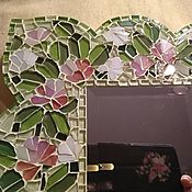 Зеркала ручной работы. Ярмарка Мастеров - ручная работа Мозаика. Клевер. Зеркало в раме. Handmade.