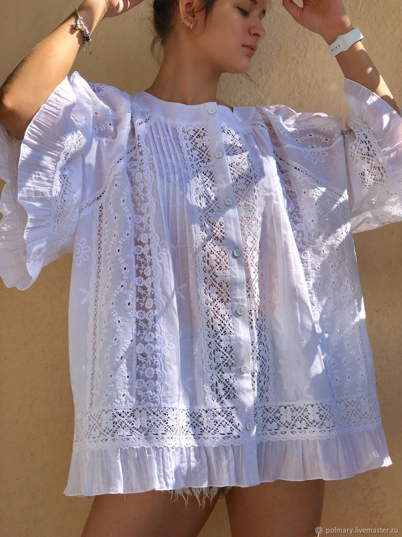 8a7fec07800 Sweater Jackets & Sweaters handmade. Livemaster - handmade. Buy Summer tunic  made of white ...