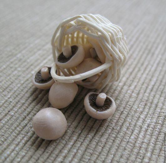 Еда ручной работы. Ярмарка Мастеров - ручная работа. Купить Грибочки 1:12. Handmade. Грибы, миниатюра, миниатюра из пластики, миниатюры