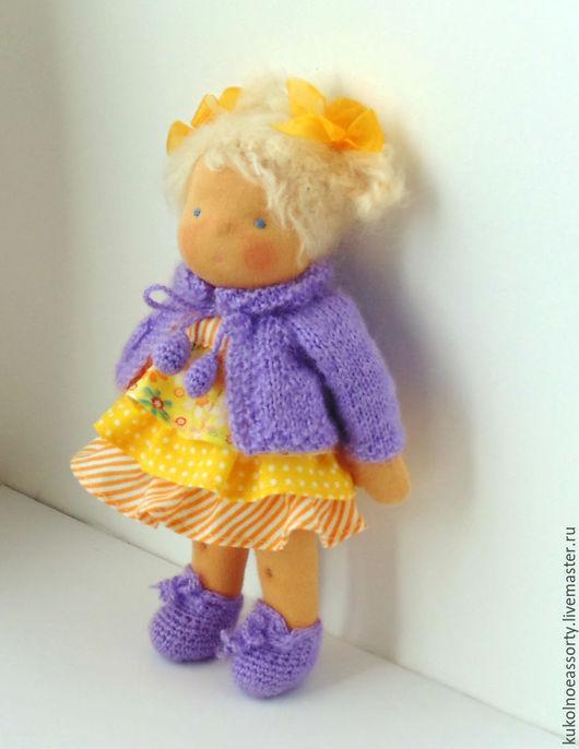 Вальдорфская игрушка ручной работы. Ярмарка Мастеров - ручная работа. Купить Лялечка (23 см). Handmade. Желтый, что подарить девочке