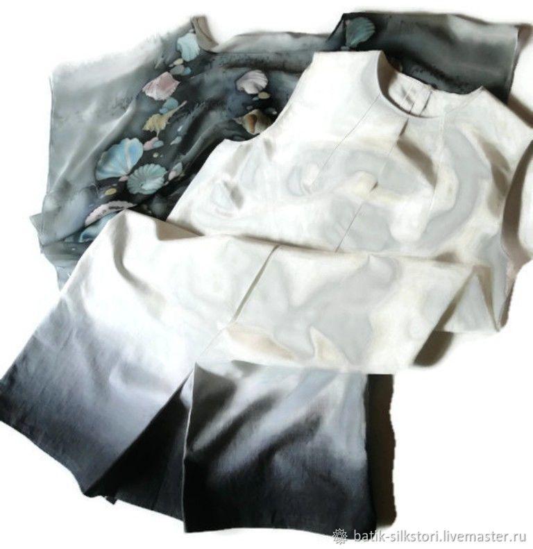 Batik Dress Elegant double-layer, Dresses, Moscow,  Фото №1