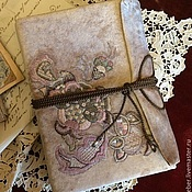 Канцелярские товары ручной работы. Ярмарка Мастеров - ручная работа Блокнот в стиле Jacobean embriodery. Handmade.