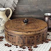 Для дома и интерьера handmade. Livemaster - original item Round box box of sweets