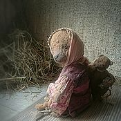 """Куклы и игрушки ручной работы. Ярмарка Мастеров - ручная работа """"Есть у Мишки мишка"""" мишка в смешанной технике. Handmade."""