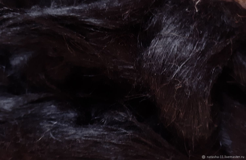 Волокна льна Италия Черный  10 гр, Волокна, Белореченск,  Фото №1