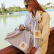 Сумки и аксессуары handmade. Livemaster - original item Bag and stole with embroidery (monogram of your name).. Handmade.