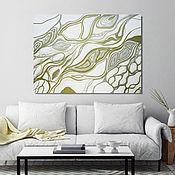Картины и панно handmade. Livemaster - original item Interior painting in the style of abstraction, Gold line. Handmade.