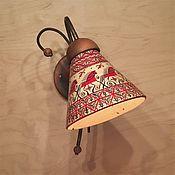 Для дома и интерьера handmade. Livemaster - original item Wall lamp made of wood and ceramics