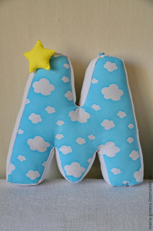 Детская ручной работы. Ярмарка Мастеров - ручная работа. Купить Буквы-подушки. Handmade. Синий, буквы подушки, буквы для фотосессии