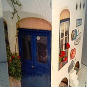 """Для дома и интерьера ручной работы. Ярмарка Мастеров - ручная работа Чайный домик """"Санторини"""". Handmade."""