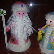 Дед Мороз и Снегурочка ручной работы. Ярмарка Мастеров - ручная работа Дед мороз и снегурочка  Вязанные игрушки. Handmade.