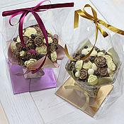 Съедобные букеты ручной работы. Ярмарка Мастеров - ручная работа Шоколадный букет мини. Handmade.