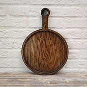 Посуда handmade. Livemaster - original item Round Serving Board. Handmade.