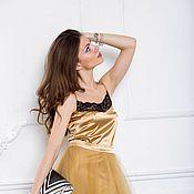 Одежда ручной работы. Ярмарка Мастеров - ручная работа Пышная юбка пачка золотого цвета. Handmade.